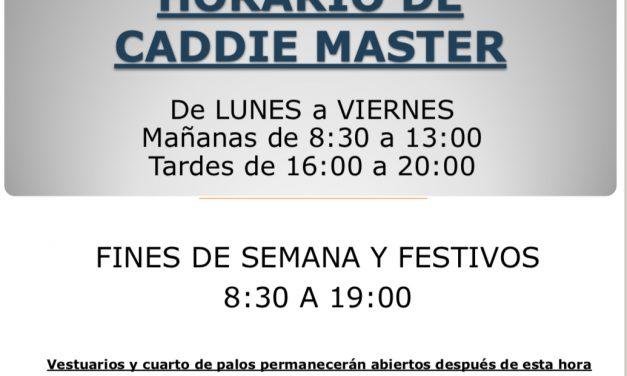 Horarios Caddie Master